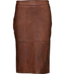 skirt knälång kjol brun depeche
