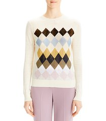 argyle print sweater