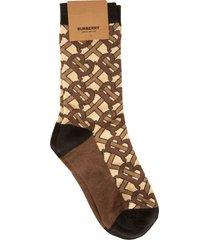 burberry logo motif socks