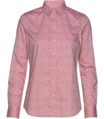 d1. fil coupe flower shirt overhemd met lange mouwen roze gant
