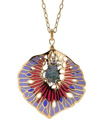 opal, diamond, and enamel orticoloa necklace