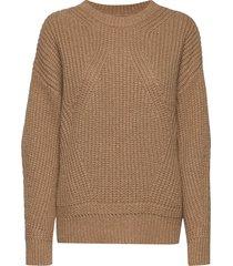 liz autumn knit stickad tröja brun mos mosh