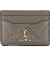 marc jacobs the quilted softshot card case - grey