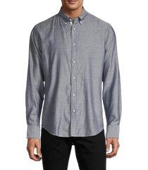 rag & bone men's spread-collar long-sleeve shirt - navy - size xs