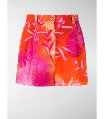 versace tie dye short shorts
