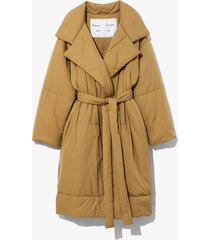 proenza schouler white label long puffer coat /brown l