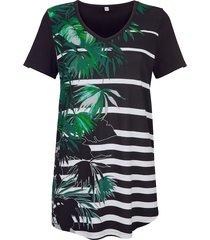 shirt maritim zwart/wit/groen