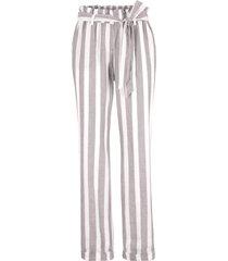 pantaloni paper bag sostenibili  in tencel™ lyocell e lino (grigio) - bpc bonprix collection