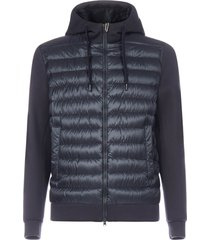 herno hooded quilted nylon and fleece down jacket