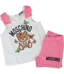 moschino cotton stretch suit