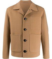 ami paris unstructured jacket - neutrals