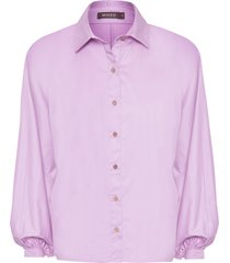 camisa feminina tricoline - lilás