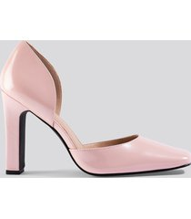 na-kd shoes squared pumps - pink