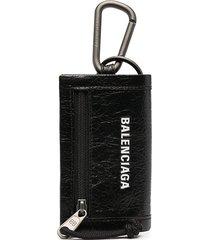balenciaga explorer mini wallet - 1000 black