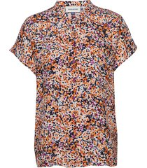 dhfleur ss shirt overhemd met korte mouwen multi/patroon denim hunter