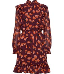 aline short dress kort klänning brun twist & tango