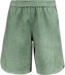 drome ribbed waist plain shorts