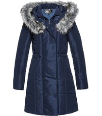 giacca lunga con ecopelliccia (blu) - bpc selection
