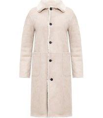 'serra' collared shearling jacket