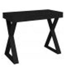 mesa para escritório escrivaninha cavalete 01 gaveta veneza a02 web preto - lyam decor