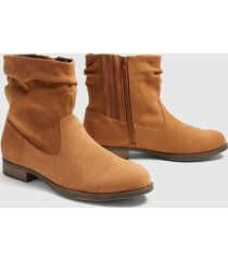 lane bryant women's dream cloud slouchy ankle bootie 12w cognac