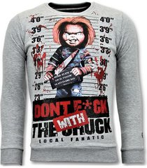sweater local fanatic trui - bloody chucky angry print -