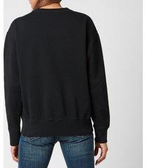 polo ralph lauren women's logo crew neck sweatshirt - polo black - m