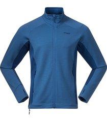 bergans vest men ulstein wool jacket riviera blue melange dark riviera blue