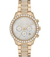 michael kors layton pave chronograph bracelet watch, 42mm
