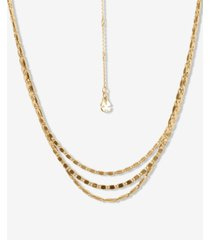 """lucky brand gold-tone chain link layered necklace, 15-1/2"""" + 2-1/2"""" extender"""