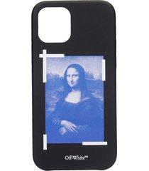 off-white blu monal iphone 12 iphone / ipad case in black pvc