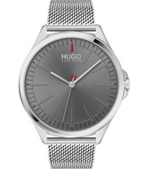 hugo men's #smash stainless steel mesh bracelet watch 43mm