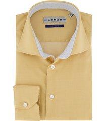 mouwlengte 7 ledub overhemd geel strijkvrij