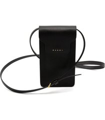 trunk phone case crossbody bag in black