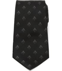 cufflinks, inc. star wars(tm) black mandalorian silk tie