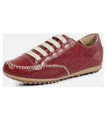 tênis torani sapatênis casual vermelho