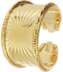 anello raggi a fascia in bronzo dorato per donna