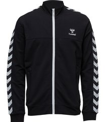 classic bee aage zip jacket sweat-shirt trui zwart hummel