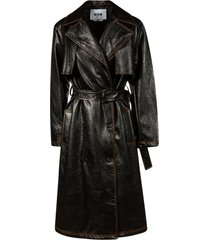 msgm belted waist mid-length coat