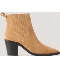 na-kd shoes pistol-boots i mocka - brown