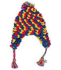 alpaca blend chullo hat, 'andean festivity' (peru)