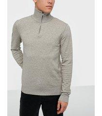premium by jack & jones jprblufelix knit half zip tröjor ljus grå