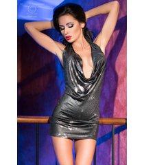 chilirose zilveren waterval jurk cr4180-s