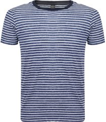 replay striped jersey blue t-shirt m3204