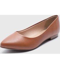 zapato plano marrón beira rio