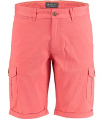 bos bright blue berend worker short 19109be02sb/630 coral - bos bright blue bermuda roze 97% katoen / 3% elastaan - bos bright blue bermuda roze 97% -