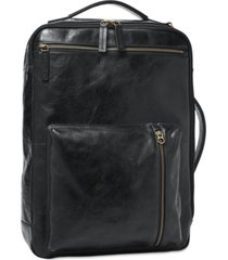 fossil men's leather buckner backpack