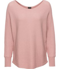 maglione oversize a costine (rosa) - bodyflirt