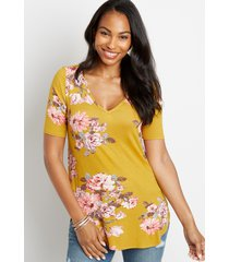 maurices womens 24/7 flawless floral tee