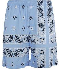 msgm paisley printed shorts